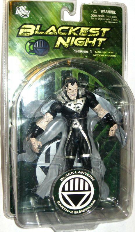 BLACKEST NIGHT Black Lantern Earth-2 Superman Actionfigur DC DIRECT ca.17cm (L)