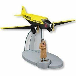 TIM & STRUPPI gelbes Air France mit Carmen Bada Flugzeug Tintin  29540 Neu (L)*