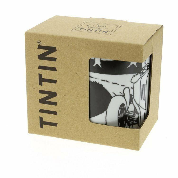 TIM STRUPPI Tintin - Soviet Auto Tassen Set mug Porzellan MOULINSART Neu  (L)* 1