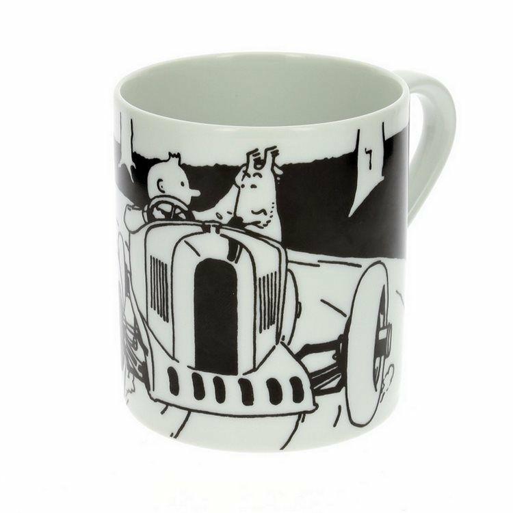 TIM STRUPPI Tintin - Soviet Auto Tassen Set mug Porzellan MOULINSART Neu  (L)* 3