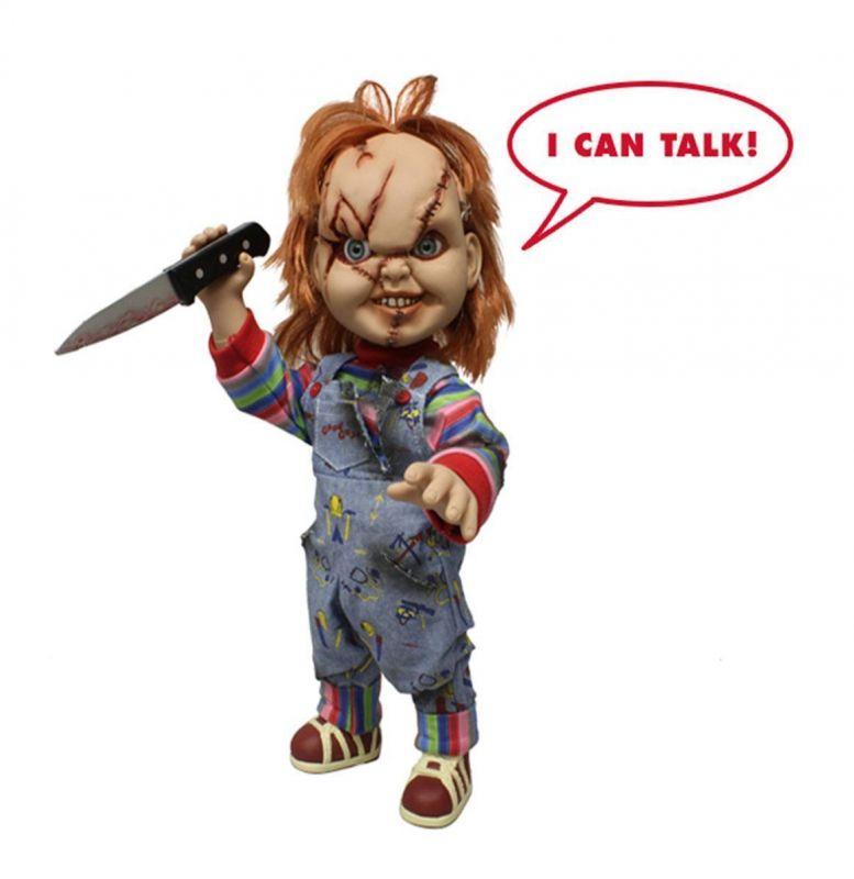 CHUCKY Die Mörderpuppe - Sprechende Puppe doll Chucky MEZCO ca.38cm Neu (KB16)*