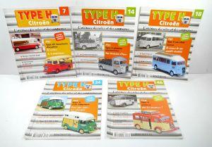HACHETTE Type H Citroen Heft 7 14 18 24  46 Auto Zeitschrift Magazin (WR3)