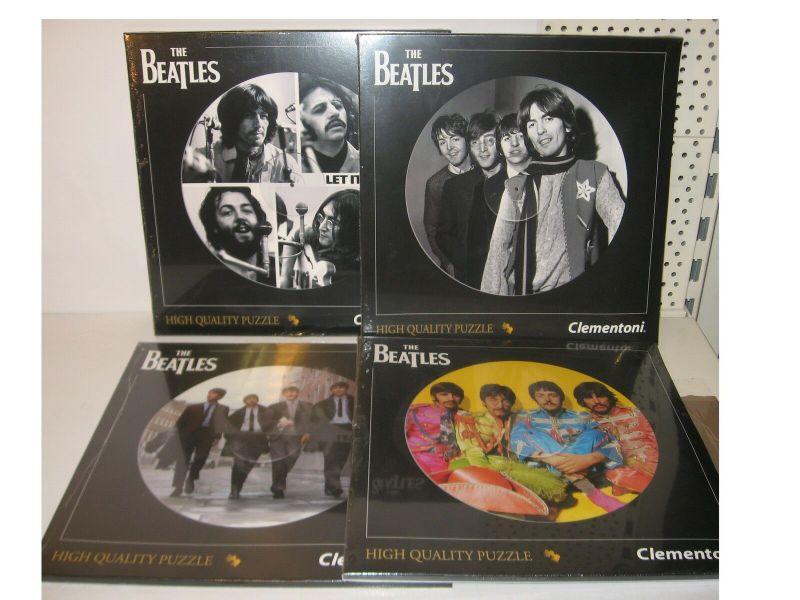 The Beatles  4 Puzzle Puzzel á 212 Teile Clementoni LP Kollektion rund Neu (KB6)