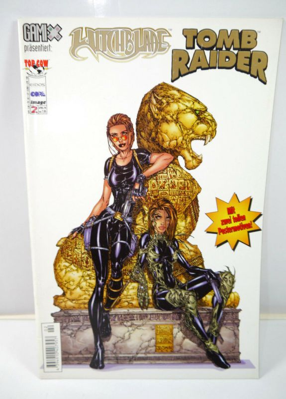 TOMB RAIDER  WITCHBLADE Heft 2 Comic mit Poster IMAGE (MF13)