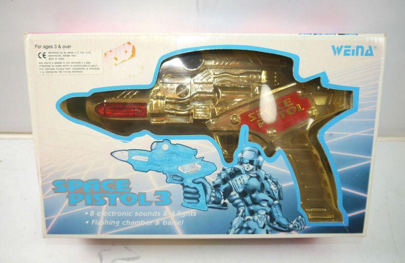 SPACE PISTOL 3 - 9037 vintage Spielzeugpistole mit Licht & Sound WEINA (K84) 0