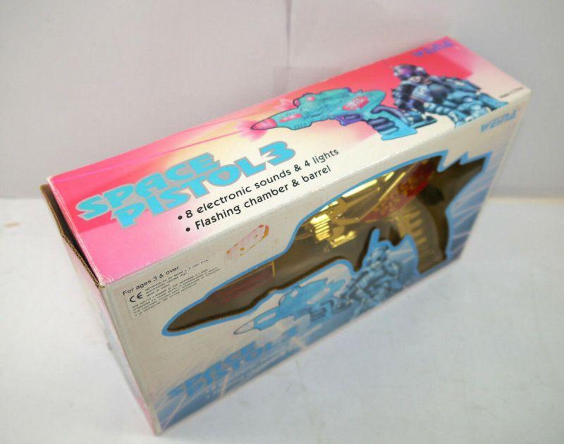 SPACE PISTOL 3 - 9037 vintage Spielzeugpistole mit Licht & Sound WEINA (K84) 1