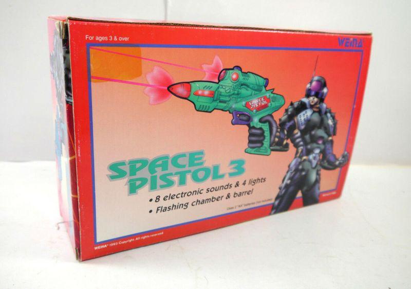 SPACE PISTOL 3 - 9037 vintage Spielzeugpistole mit Licht & Sound WEINA (K84) 2