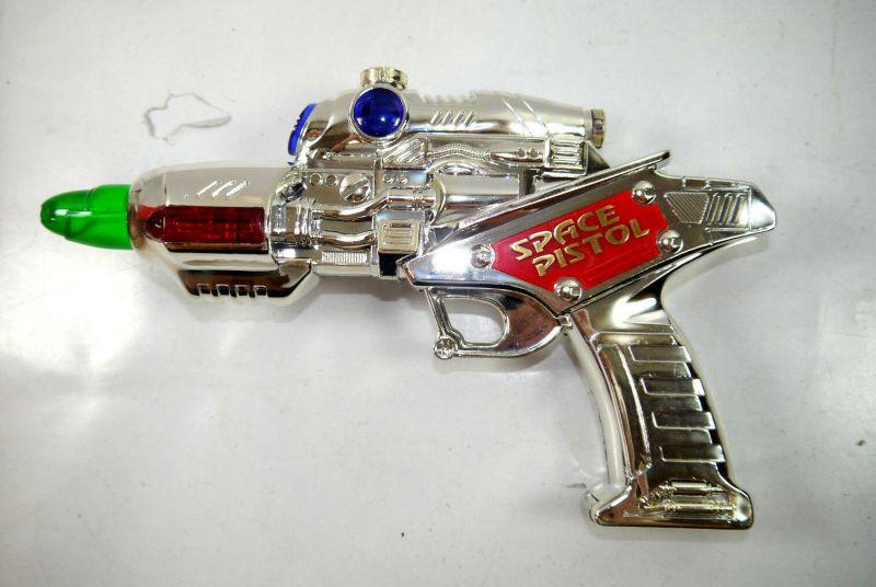 SPACE PISTOL 3 - 9037 vintage Spielzeugpistole mit Licht & Sound WEINA (K84) 3