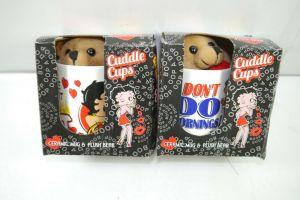 BETTY BOOP Tassen mug Set Keramik CUDDLE CUPS mit Stofftieren NJ CROCE (K24)