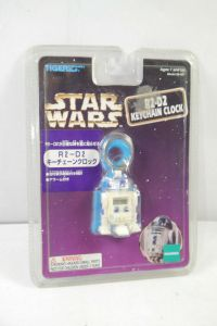 STAR WARS R2-D2 Schlüsselanhänger Uhr keychain clock ca.5cm HASBRO Neu (K20)