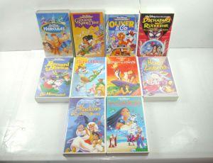 DISNEY Filmsammlung VHS : Pocahontas ALADDIN König der Löwen ROBIN HOOD (MF13)