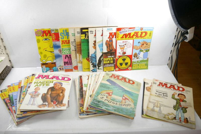 Deutsches MAD 50 Hefte unterschiedlicher Jahrgänge   Zustand : 2 bis 4 ( MF23 )