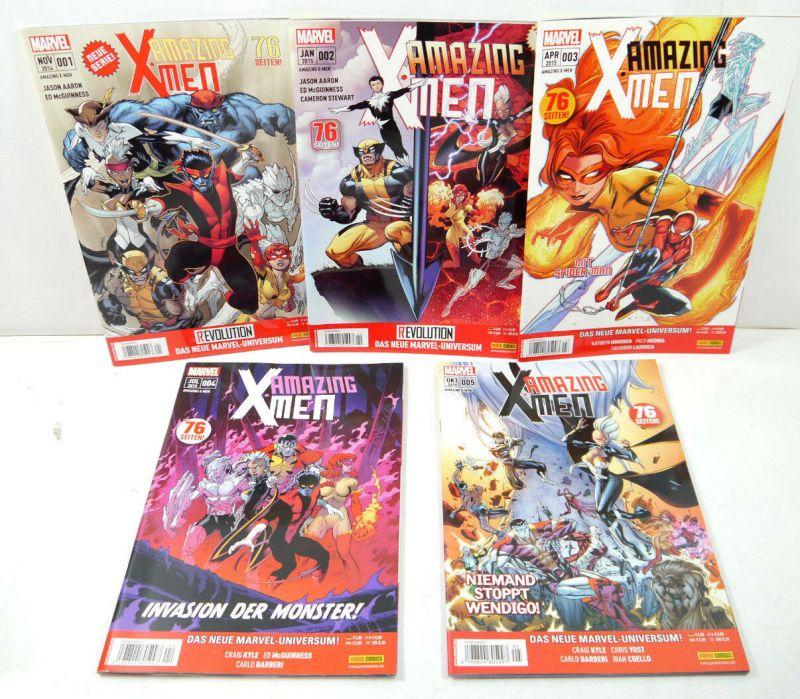 AMAZING X - MEN ReEvolution Heft 1 - 5 Comic MARVEL Panini Comics (WR5)
