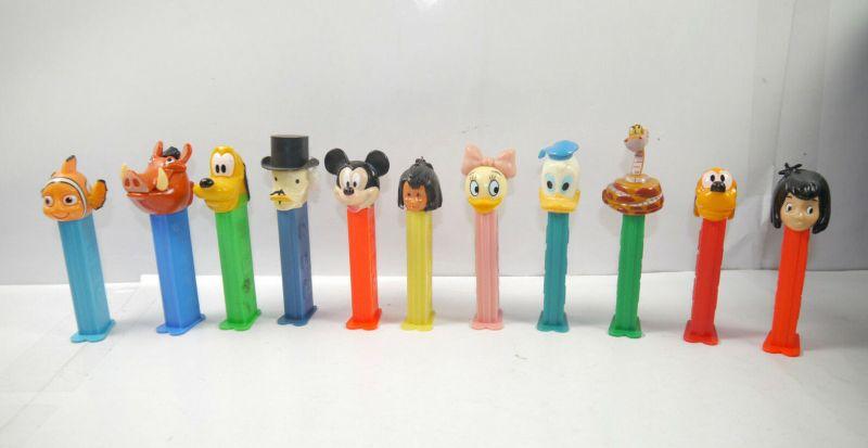 PEZ Spender DISNEY Dagobert Pluto Mickey Donald Duck Nemo Pumbaa Set (K78) # 01