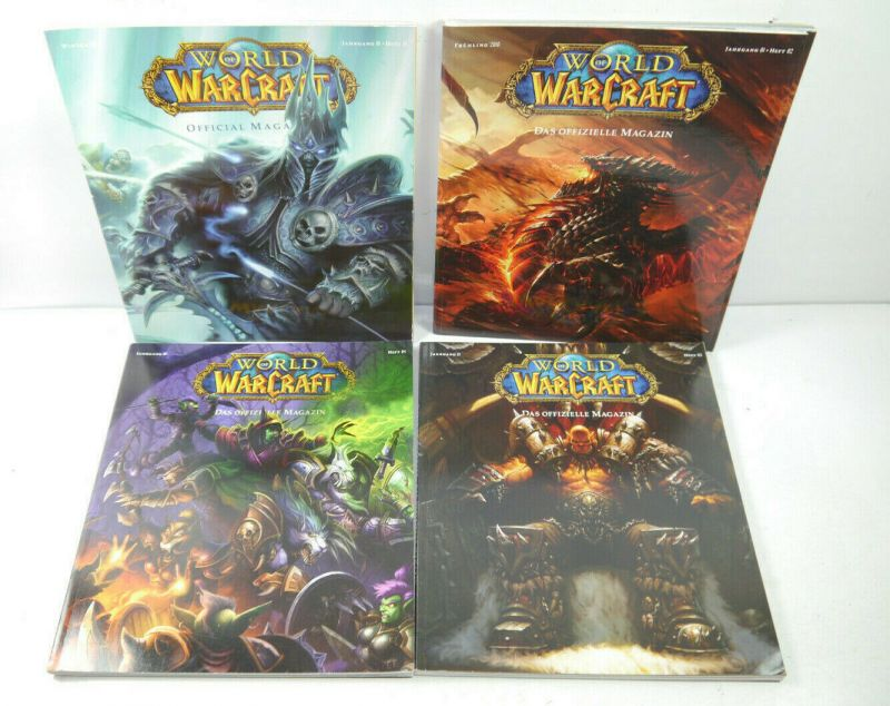 WORLD OF WARCRAFT Offizielle Magazin Heft 1 2 3 4 / mit Poster FUTURE US (MF10)