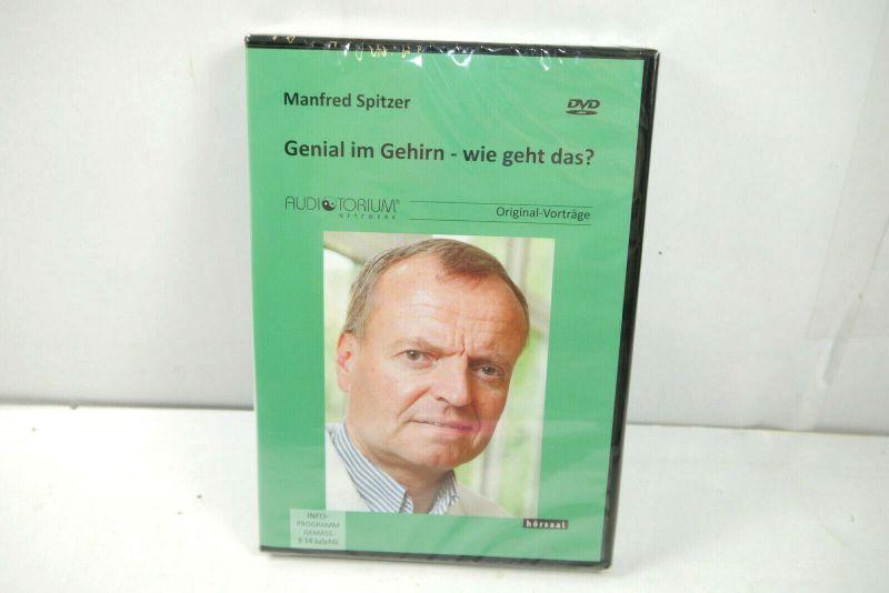 GENIAL IM GEHIRN Wie geht das? Manfred Spitzer Original-Vorträge DVD Neu (WR4)