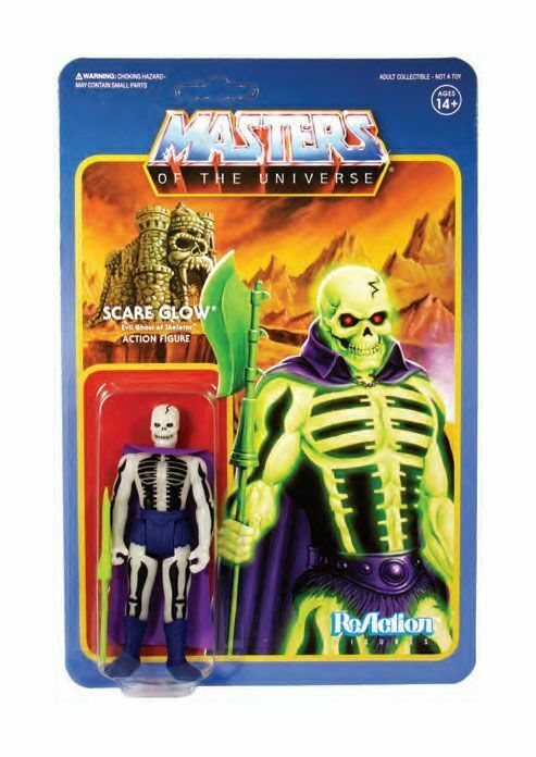 MASTERS OF THE UNIVERSE Motu Scare Glow Actionfigur ReACTION SUPER 7 Neu (KB5)*