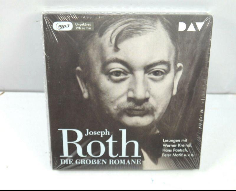 JOSEPH ROTH Die großen Romane - Lesungen mit Kreindl, Paetsch ... MP3 Neu (K65)