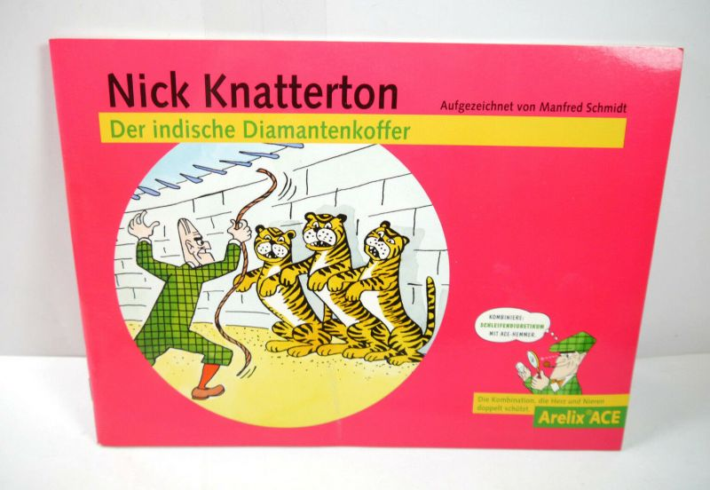 NICK KNATTERTON Der indische Diamantkoffer Comic ARELIX ACE Werbecomic (WR3)