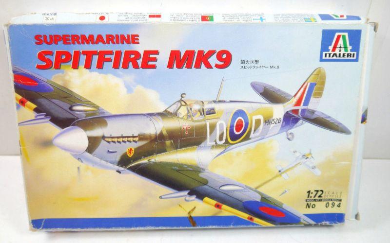 ITALERI 094 Supermarine Spitfire MK9 Eduard Flugzeug Modellbausatz 1:72 (K22)
