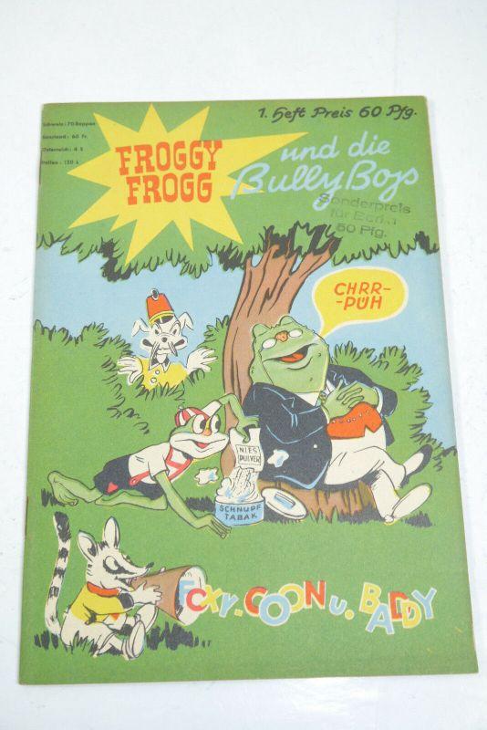 Froggy Frogg und die Bully Boys Nr. 1 Jahrgang 1953 Masta Verlag  Z: 1  (WR3)