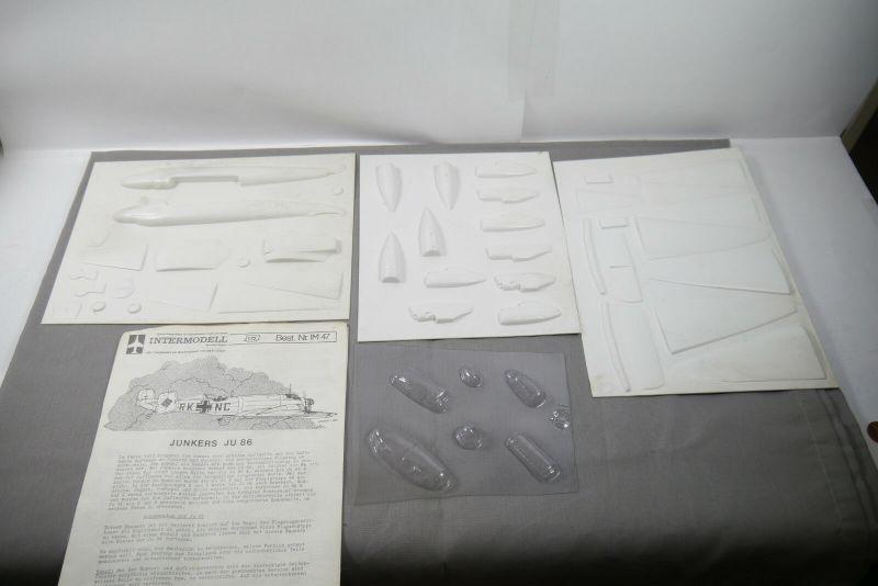Intermodell Junkers Ju 86  Vacuum Vacu Kit  Modellbausatz Flugzeug 1 :72 (K46)C