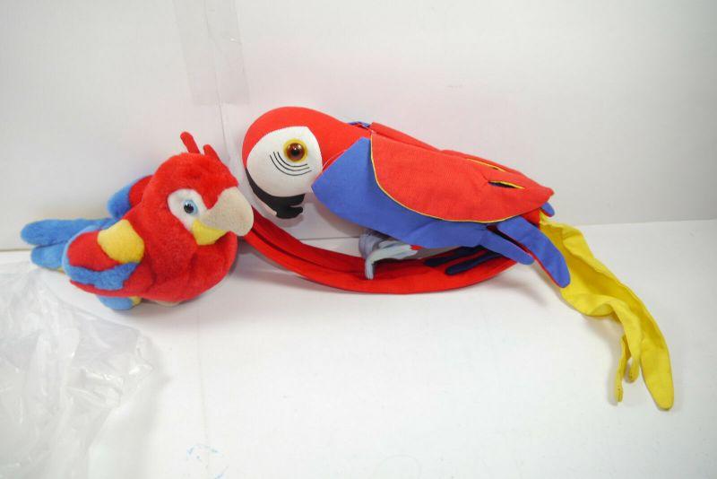Glasurit 2 vers. Papagei   Plüschtier  Stofftier Werbefigur  Zustand: gut  (K5)