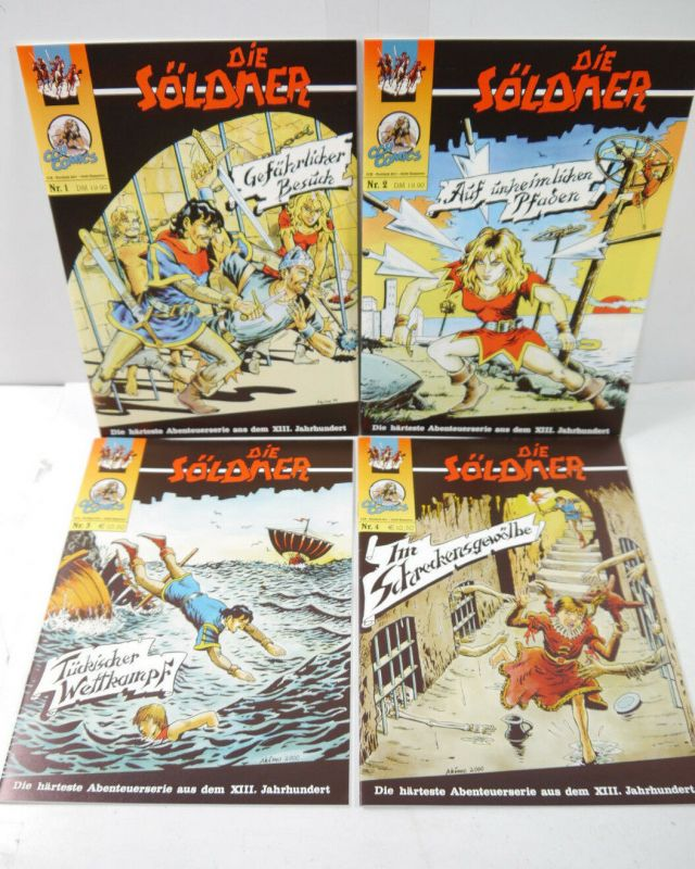 DIE SÖLDNER Die härteste Abenteuerserie ... Heft 1 2 3 4 Comic CCH COMICS (MF8)