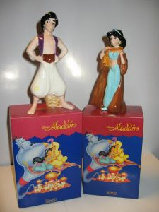 Aladdin Jasmine und Aladdin Figurenset  Schmid OVP  Keramik (KB2 / K4)*