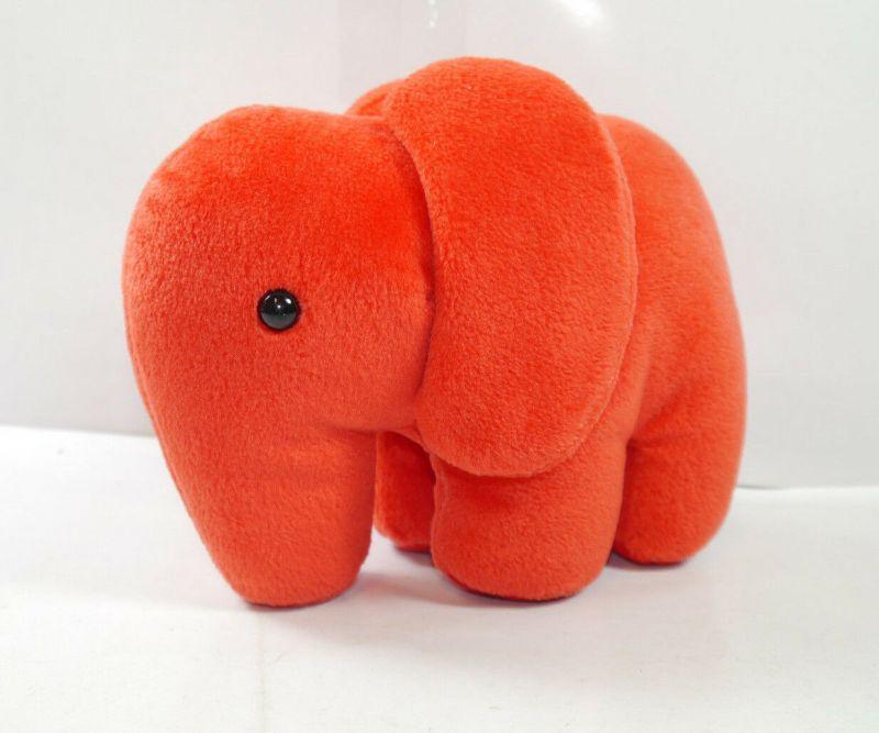 Heinrich DEICHMANN Elefant Schuh rot red Stofftier Maskottchen Werbefigur (K75)