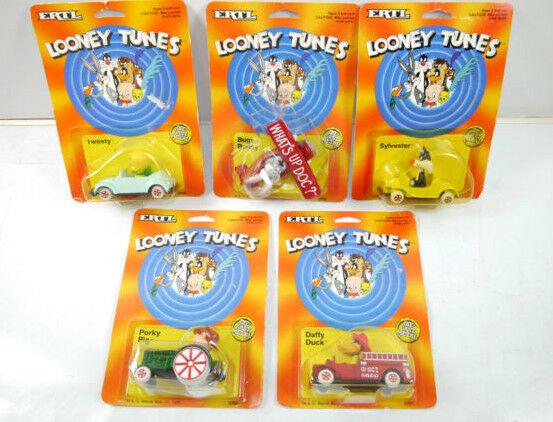 LOONEY TUNES 5er Set Bugs Bunny DAFFY DUCK Tweety Metall Modellauto ERTL Neu K46