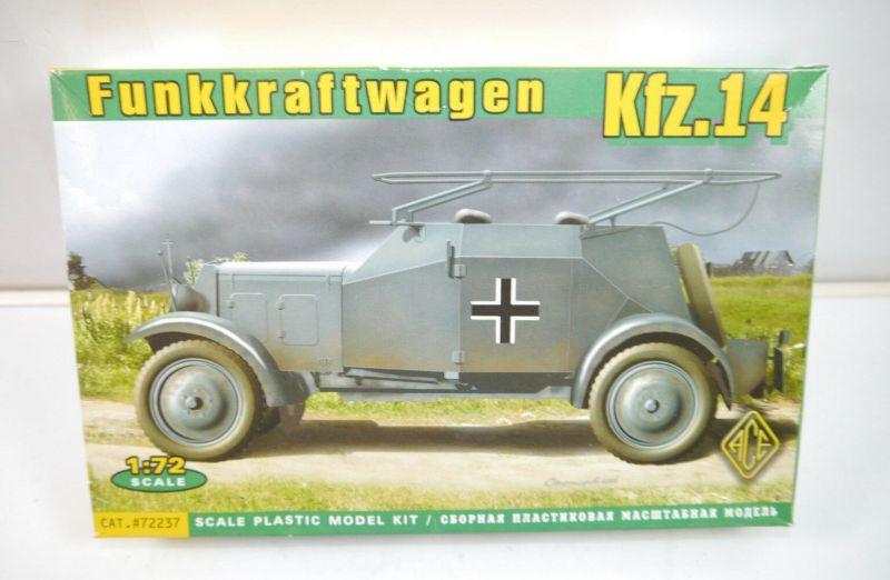 FUNKKRAFTWAGEN Kfz.14 Fahrzeug 72237 Plastik Modellbausatz 1:72 (K6)