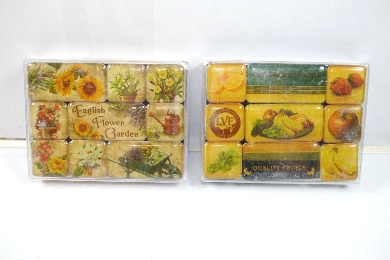 NOSTALGIC-ART 2er Magnet Set mit 18 Magnete LATE VINTAGE FRUITS Garden (K83)#12