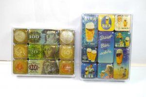 NOSTALGIC-ART 2er Magnet Set mit 18 Magnete DM DEUTSCHE MARK Bier (K83)#10