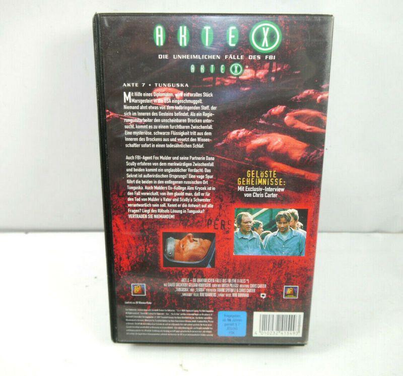 AKTE X - Folge 7 TUNGUSKA auf VHS / Signiert DAVID DUCHOVNY Gillian Anderson K42 3