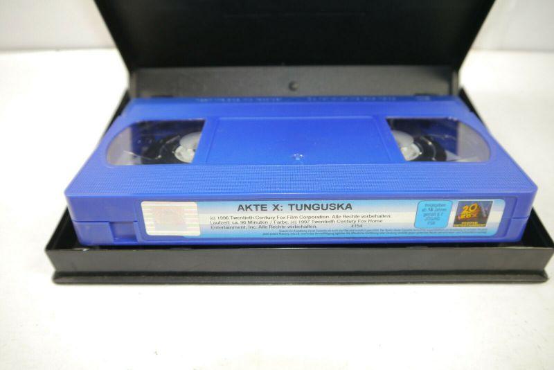 AKTE X - Folge 7 TUNGUSKA auf VHS / Signiert DAVID DUCHOVNY Gillian Anderson K42 4