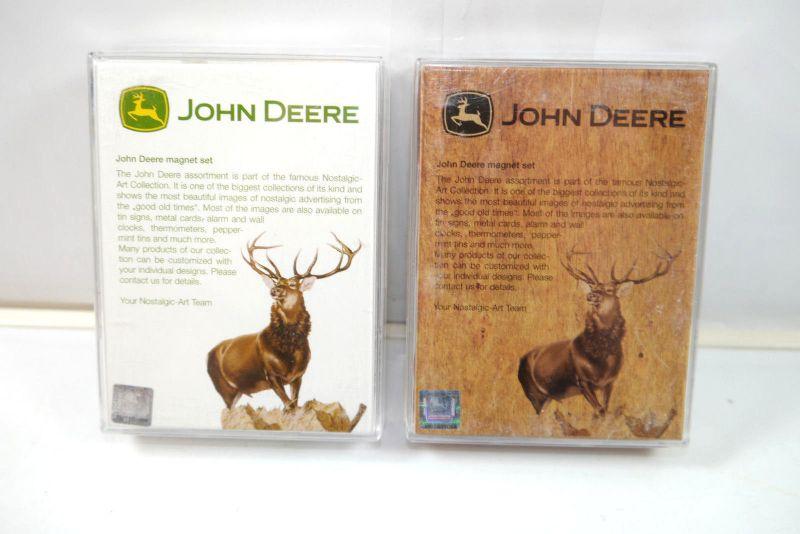NOSTALGIC-ART 2er Magnet Set mit 18 Magnete DEERE & CO. John Deere Neu (K83)#01 1