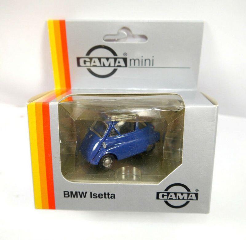 GAMA Mini - 1150 BMW Isetta dunkelblau Modellauto ca.5,5cm - mit OVP (K12)
