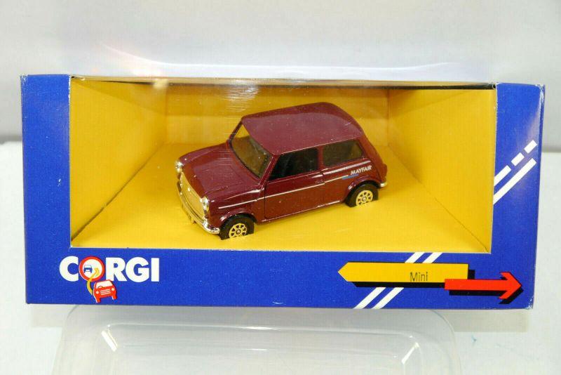CORGI C330/3 Mini Cooper Mayfair rot braun Metall Modellauto 1:43 (K70) #11