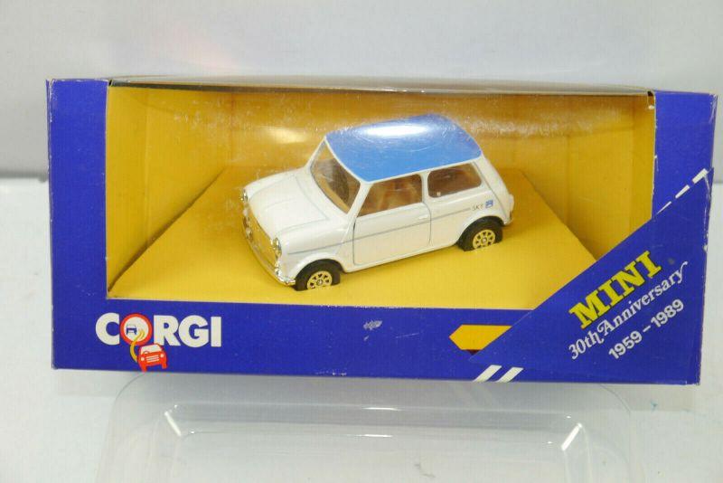 CORGI C330/3 Mini Cooper Sky weiß blau Metall Modellauto 1:43 (K70) #10