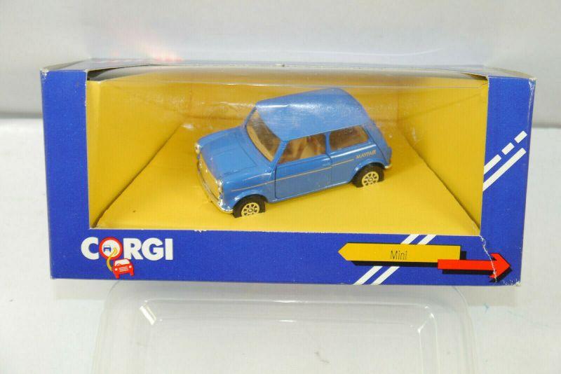 CORGI C330/7 Mini Cooper Mayfair blau Metall Modellauto 1:43 (K70) #09
