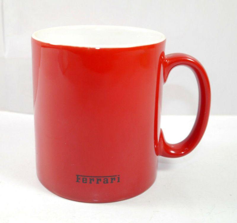FERRARI rot red mit Pferd Horse Tasse Kaffeebecher mug - mit OVP (K67) 1