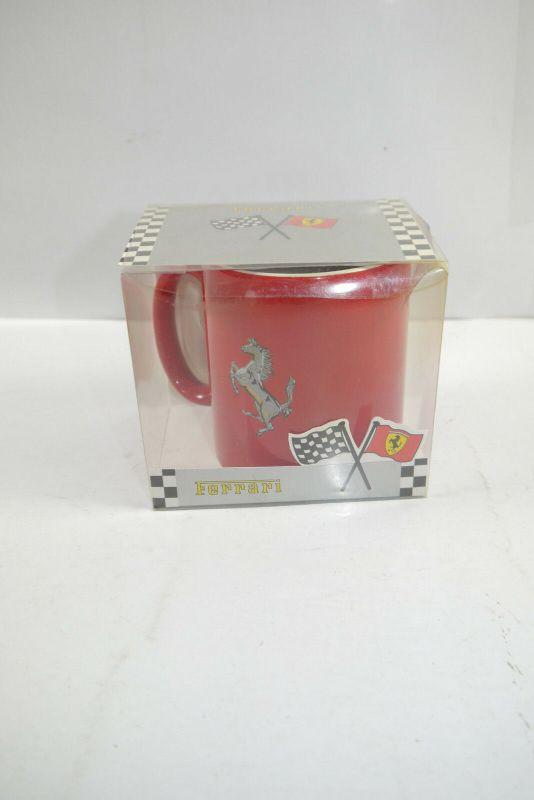 FERRARI rot red mit Pferd Horse Tasse Kaffeebecher mug - mit OVP (K67) 2