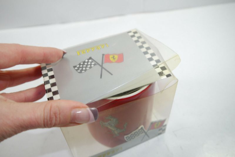 FERRARI rot red mit Pferd Horse Tasse Kaffeebecher mug - mit OVP (K67) 3