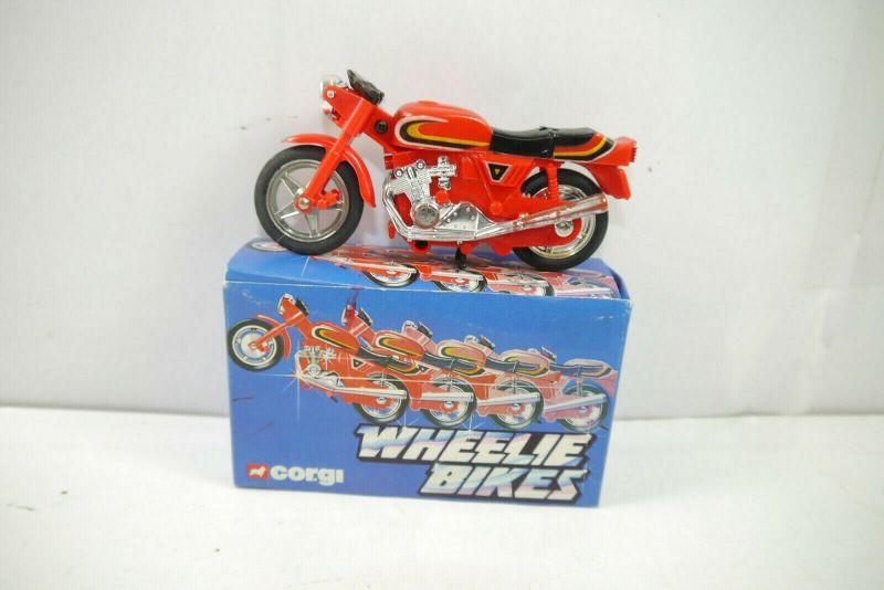 CORGI Wheelie Bikes 51695 Street Bike Motorrad rot ca.11cm - mit OVP (K8) # M