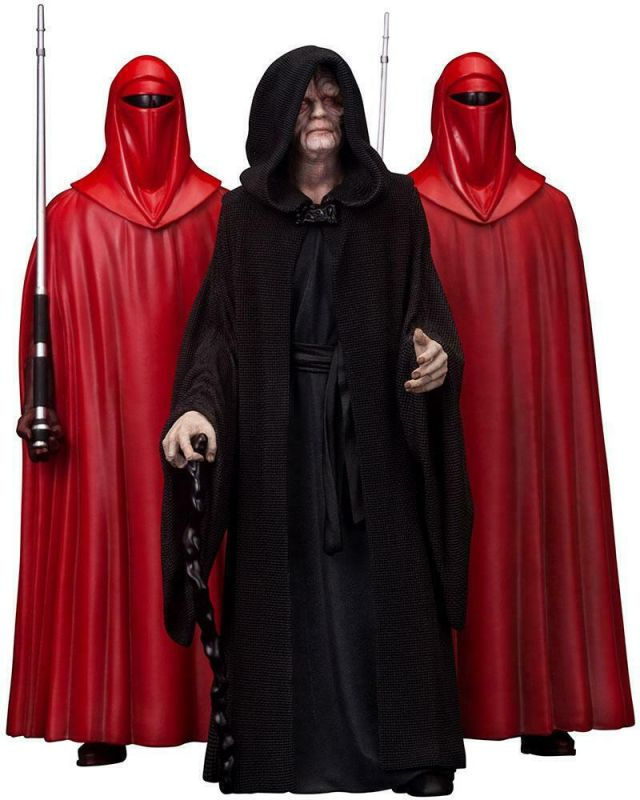Star Wars Statuen 3-Pack Emperor Palpatine & The Royal Guards 1:10 ( L) *