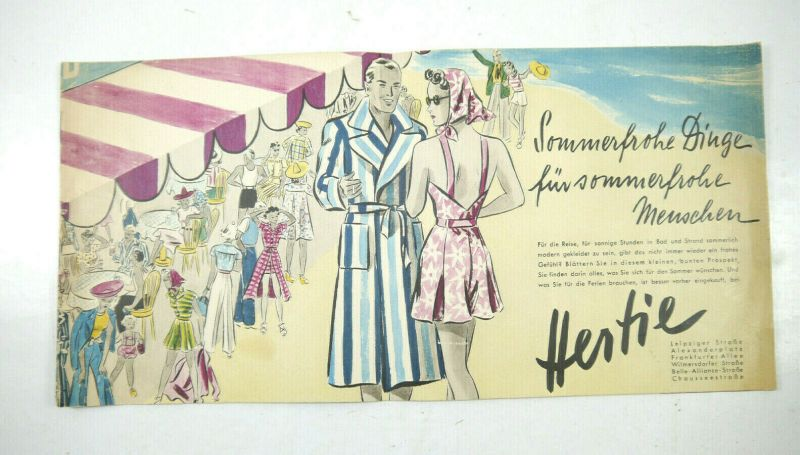 HERTIE Warenhaus alter Bestellkatalog Katalog vintage (MF19)
