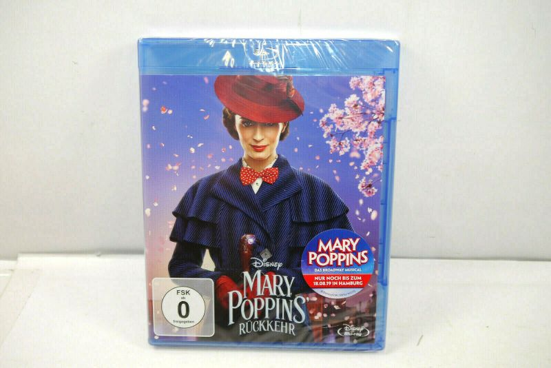 Disney MARY POPPINS Rückkehr ( 2018 ) Blu-ray / Emily Blunt Dick Van Dyke (WR4)