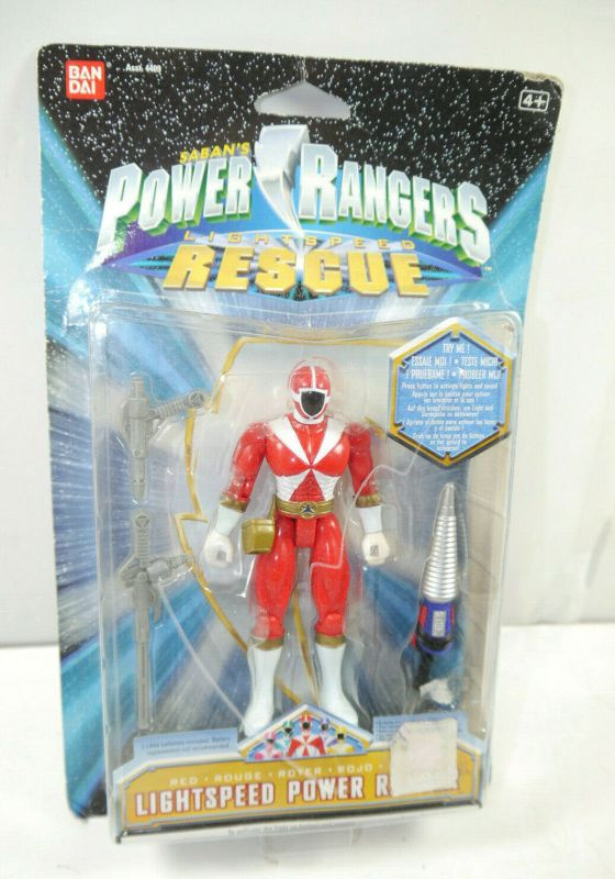 POWER RANGERS Lightspeed Rescue - Roter red Power Ranger Actionfigur BANDAI K45