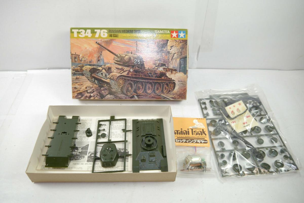 TAMIYA T34 / 76 Russian Medium Tank    Plastik Modellbausatz 1:48 (K12)